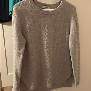 Madewell 100% cashmere long-sleeved gray sweater